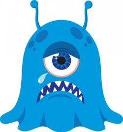 Illustration clipart blue alien