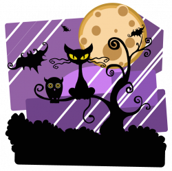 Horror clipart halloween scene
