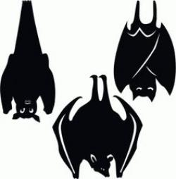 Horror clipart hanging bat