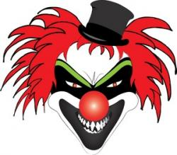 Clown clipart creepy