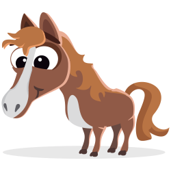 Clydesdale clipart cartoon
