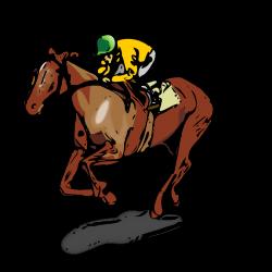 Horse Riding clipart horse jockey