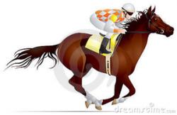 Horse Racing clipart racer