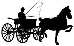 Cart clipart horse drawn wagon