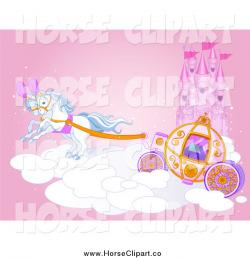 Horse-drawn Carriage clipart fairytale