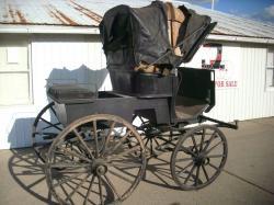 Drawn trolley antique horse