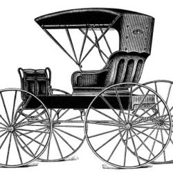 Horse-drawn Carriage clipart old transportation