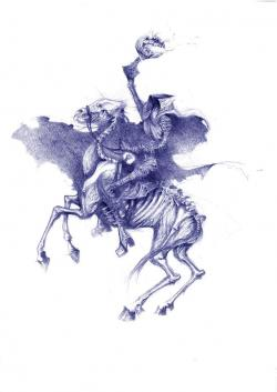 Horsemen clipart sleepy hollow
