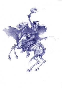 Horsemen clipart sleepy hollow