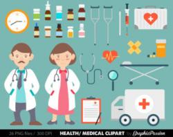 Medical clipart themed