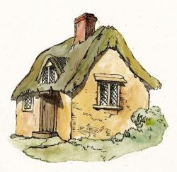Cottage clipart fairytale cottage