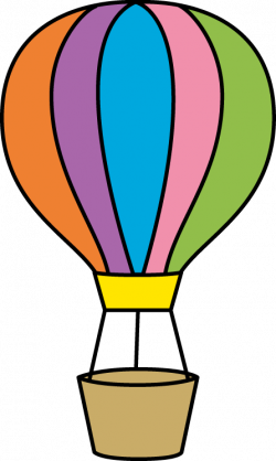 Colouful clipart hot air balloon