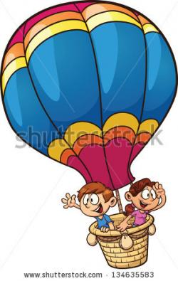Hot Air Balloon clipart animated
