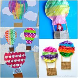 Hot Air Balloon clipart art and craft