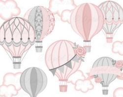 Hot Air Balloon clipart baby shower