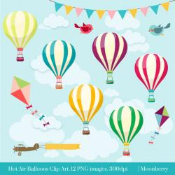 Hot Air Balloon clipart background