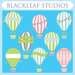 Hot Air Balloon clipart banner