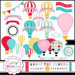 Hot Air Balloon clipart bright