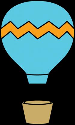 Hot Air Balloon clipart chevron