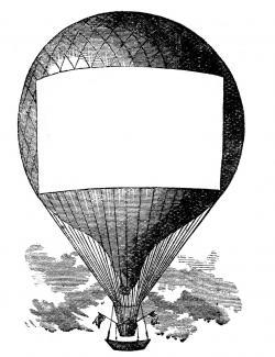 Steampunk clipart balloon