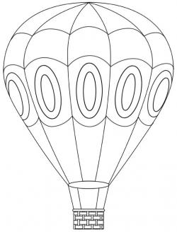 Hot Air Balloon clipart colouring page