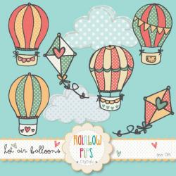 Hot Air Balloon clipart doodle
