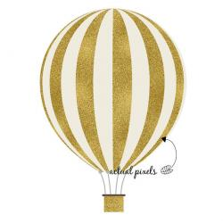 Hot Air Balloon clipart gold