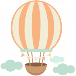 Hot Air Balloon clipart kawaii