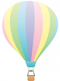 Hot Air Balloon clipart pastel