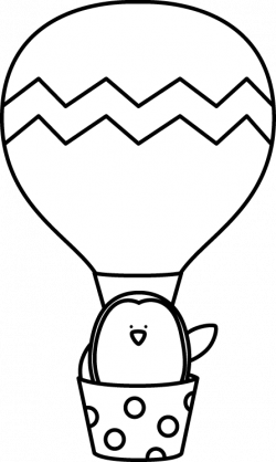 Hot Air Balloon clipart penguin