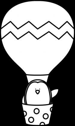 Hot Air Balloon clipart penguin