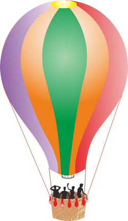 Hot Air Balloon clipart public transport