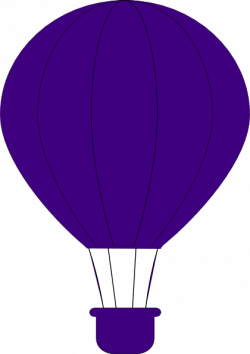 Hot Air Balloon clipart purple