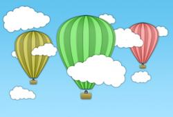 Hot Air Balloon clipart scene