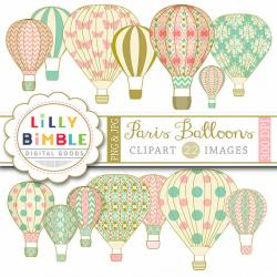 Hot Air Balloon clipart scrapbook