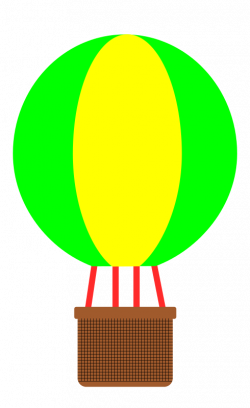 Hot Air Balloon clipart simple