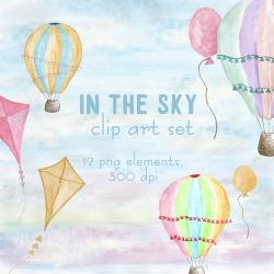 Kite clipart watercolor