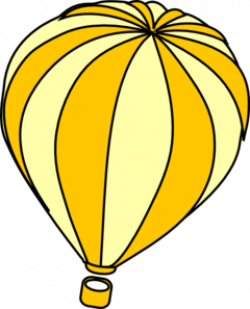Hot Air Balloon clipart yellow