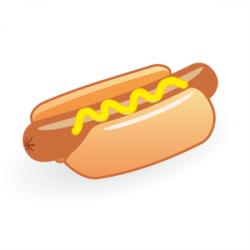 Small clipart hotdog