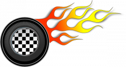 Flames clipart hot wheel