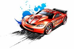 Race clipart hot wheel