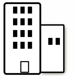 Bulding  clipart black and white