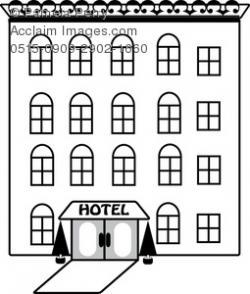 Inn clipart black and white