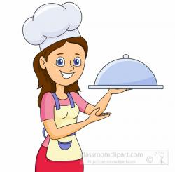 Women clipart cooking dinner