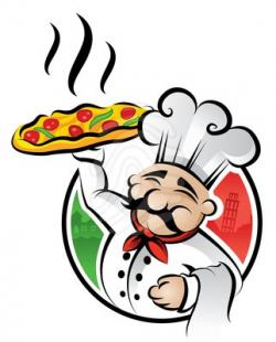 Men clipart pizza