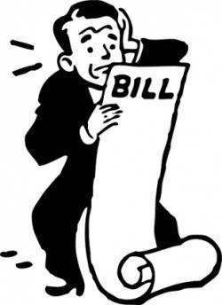 Restaurant clipart restaurant bill