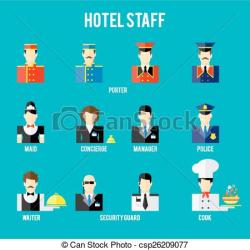 Hotel clipart hotel staff