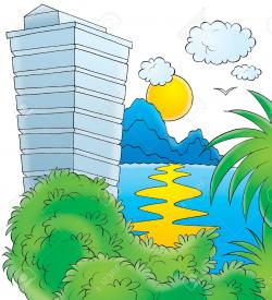Resort clipart hotel