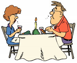 Date clipart restaurant table