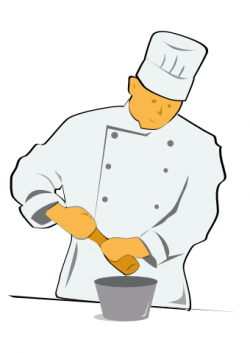 Moving clipart chef